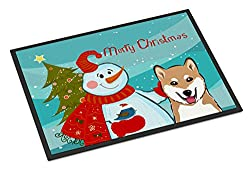 Christmas dog mat
