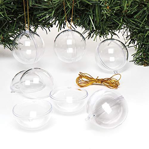 Baker Ross Adornos colgantes transparentes para el árbol de Navidad: suministros creativos...