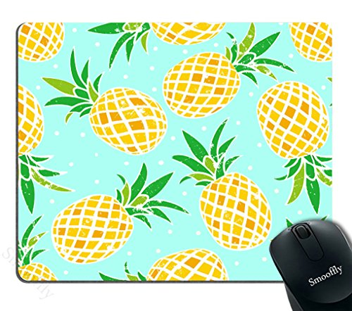 Smooffly Mouse Pad Personalize Custom,Pineapple Rectangle Mouse Pad,Gaming Mouse Pad 9.5X7.9 inches