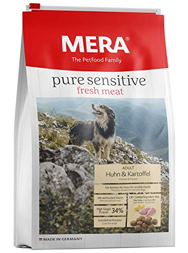 Mera Dog Hundefutter Pure Sensitive fresh meat Huhn & Kartoffel, 12.5 kg