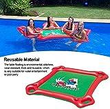 Asiento inflable Tabla reutilizable piscina flotante 1 mesa 4 sillas,gran capacidad de carga Juego de Mesa Juguetes Sillas con impermeable salta el juego el póker para Piscina Juegos de cartas Agua