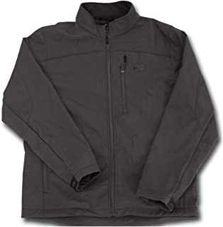 HOOey Men's Softshell Jacket, Black on Black