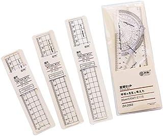 GGJIN 1 Pcs Creative Minimalist Ruler Transparent Hand Account Ruler (Color : 18cm ruler)