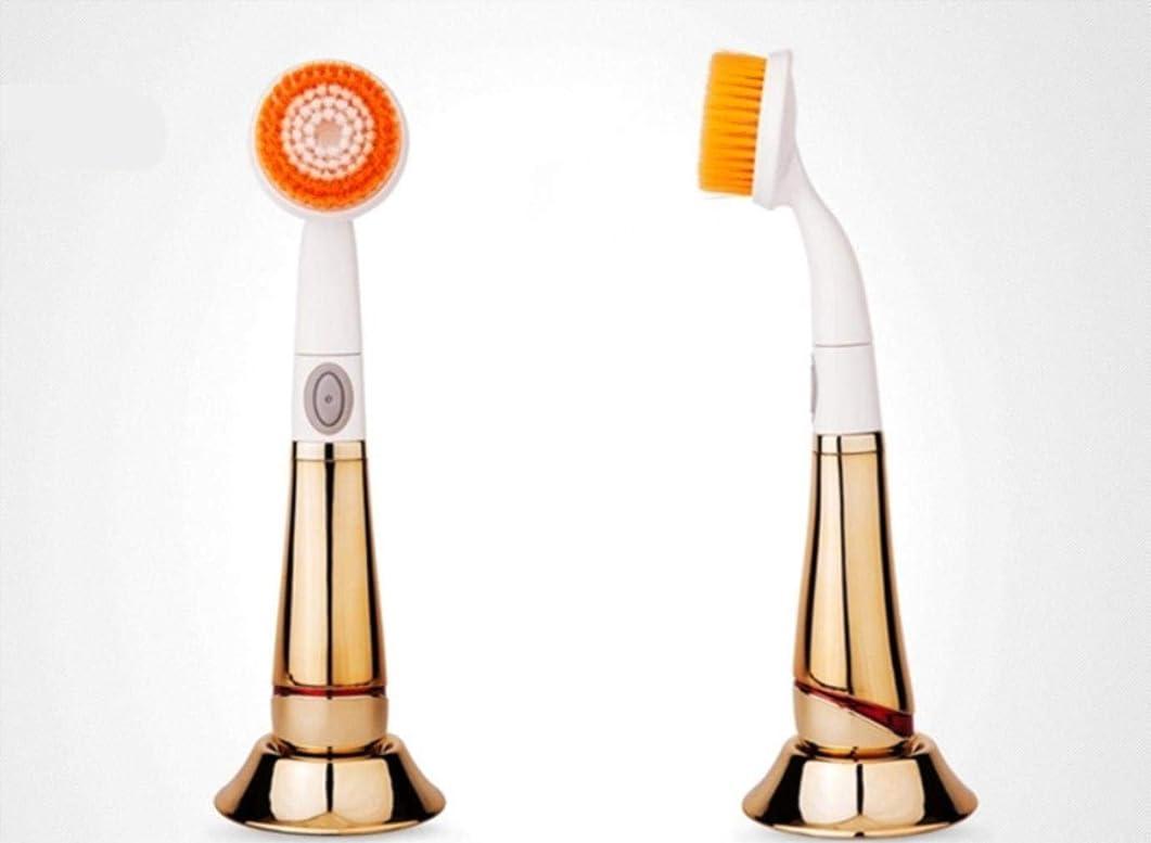 ひそかに所得着替える電気洗浄器具洗顔洗顔ブラシ,Gold