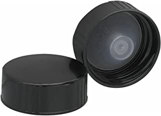 Wheaton 239259 Black Phenolic Screw Cap with PE Poly-Seal Liner, 28-400 Size (Pack of 144)