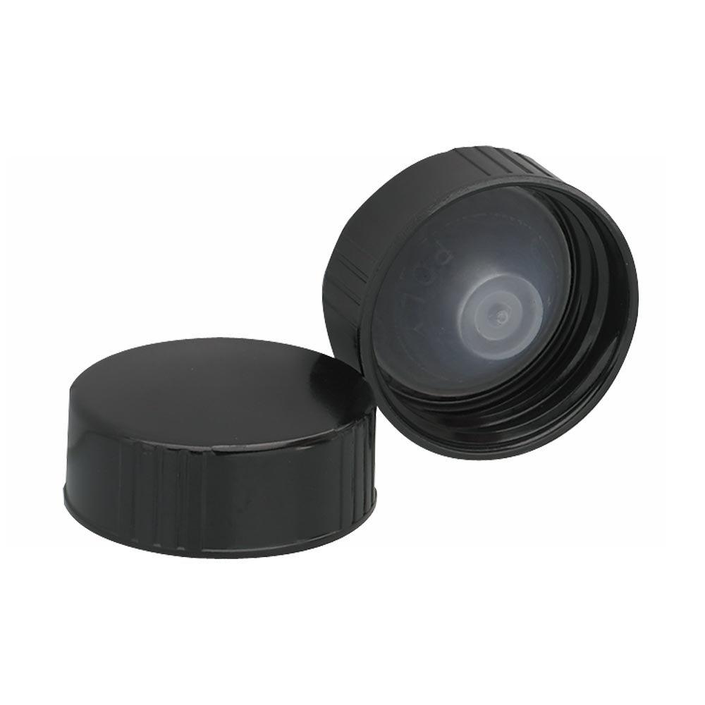 Classic Oakland Mall Wheaton 239259 Black Phenolic Screw Liner Poly-Seal Cap PE with