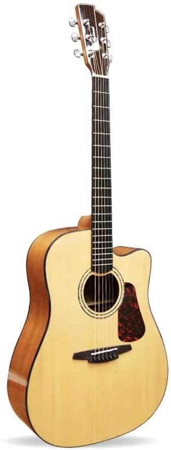 Boll-ATur 41-PULGADAS Guitarras acústicas -6 Cuerdas Guitarra acústica for principiantes Diseño de la mano derecha Diapasón de Ucrania Guitarra anti-grietas (Color : A-2)