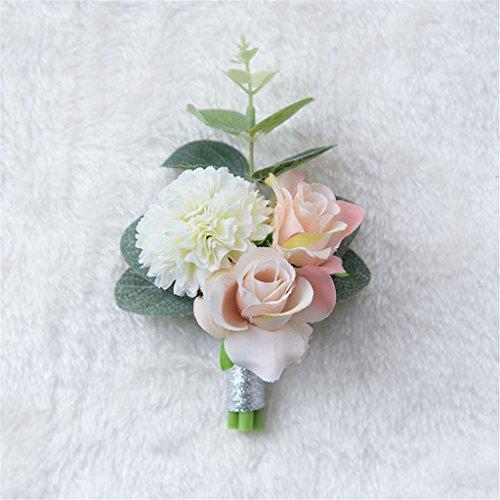 fouriding Ramo de flores para boda, rústico, estilo retro, artificial, ramo de novia, flores, decoración de la boda