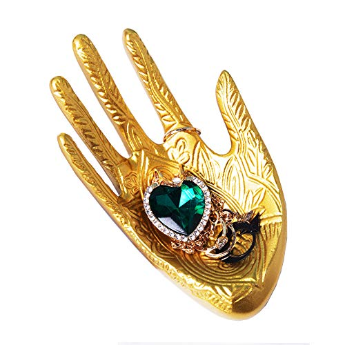 Lemonandeus Buddha Hand Jewelry Dish Trinket Rings Holder Jewelry Ring Tray (Gold)