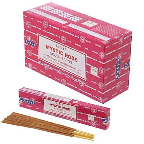 12 Boxes Of Satya Nag Champa Incense Sticks - Mystic Ros