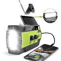 RunningSnail Emergency Crank Radio with Solar Panel