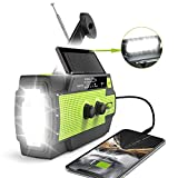 2020 Newest Emergency Crank Radio,4000mAh-Solar Hand Crank Portable AM/FM/NOAA...