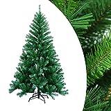 wolketon 1.8m Albero di Natale Artificiale Albero di Natale Deco Albero di Natale in PVC Verde con Supporto Decorazione Natalizia con Supporto in Metallo per Interni ed Esterni-Verde