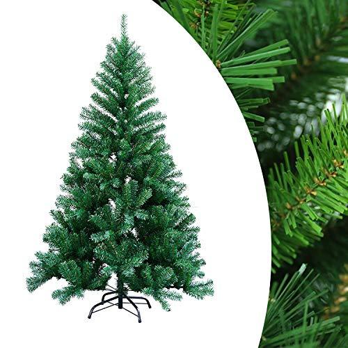 Hengda 180cm Weihnachtsbaum Ständer Künstlicher Tannenbaum Christbaum Baum Tanne Weihnachten Christbaumständer inkl. Christbaum Ständer für Innen und Außen PVC Grün