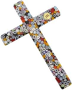 GlassOfVenice Cruz de pared de cristal de murano