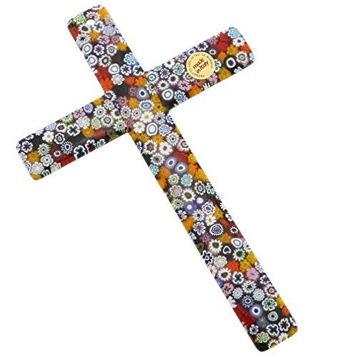 GlassOfVenice Murano Glass Wall Crucifix
