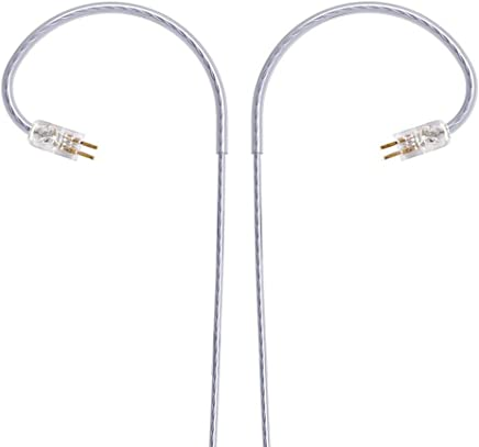 NocturnaL Audio N2 (CM) 2-Pin Silver-Plated Copper [SPC] 3.5mm Replacement Cable for W4R, Custom IEMs (CIEM)