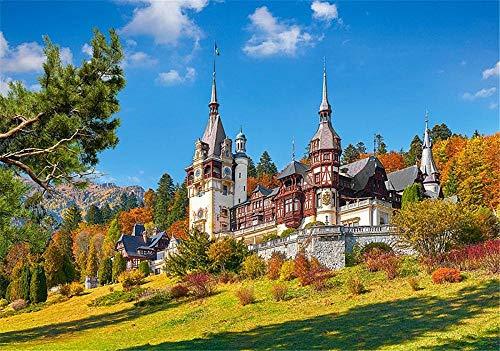 WFYY Puzzles 1000 Piezas, Castillo De Peles, Rumania 75X50Cm