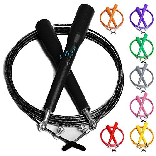 #DoYourFitness Springseil Extra leicht verstellbares Speed Rope High Speed Stahlsei/Kugellager & Anti-Rutsch-Griffen in unterschiedlichen Farbe/High-Speed-Seil/grün