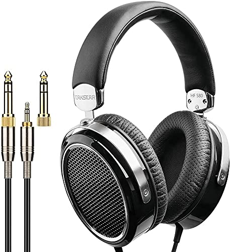 TAKSTAR Hi-Fi Headphones Wired Stereo Dynamic Noise-Cancelling Headworn Headset with Protein Leather Earpads for Travel Work TV PC Cellphone Laptop HF580