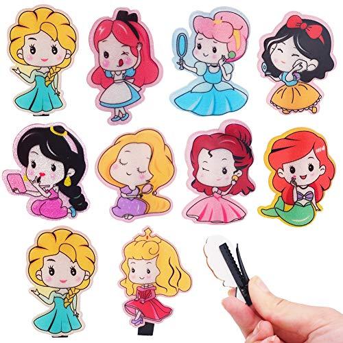 Horquillas Para El Pelo Niña Bebe SZWL Pinzas para el Cabello para Niñas Disney Princesa Pinzas para el Pelo Niños Regalo para Fiesta Cumpleaños,10 Piezas