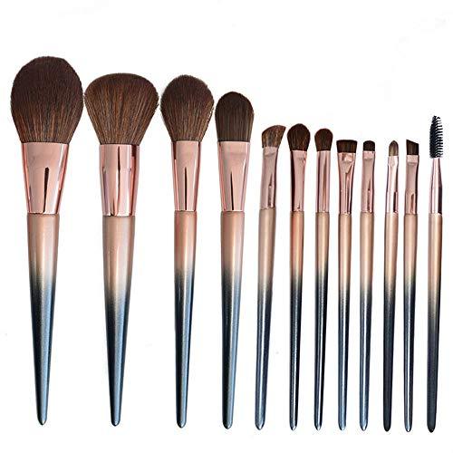 Pinceaux 12pcs maquillage pinceau fondation eyeliner fard à paupières sourcils blush correcteur en surbrillance Beauté du visage