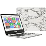 Mightyskins Skin Compatible With Samsung Chromebook Plus 12.3'(2017 - White Marble   Protective, Durable, And Unique Vinyl Decal Wrap Cover   Easy To Apply, Remove, And Change Styles   Made In The Usa