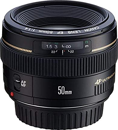 Canon EF 50mm f/1.4 USM - Objetivo para Canon (distancia focal fija 50mm, apertura f/1.4, diámetro: 58mm) color negro