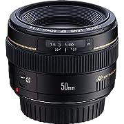 Canon EF 50mm f/1.4 USM Standard-Prime Lens  Only Lenses, Black