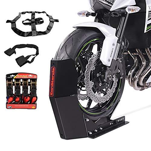 Motorradwippe mit Fixiergurt und Spanngurt für Moto Guzzi V9 Roamer sw