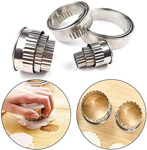 Kuchen Backform12pcs Multi Standard Edelstahl Keks Herstellung Form Runde Form mit gewellten SpitzeKüche Gadgets
