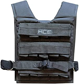 HCE Weighted Vest - Adjustable Weight Vest with Blocks fo Men/Unisex - Training Workout Weight Jacket for Running Strength...