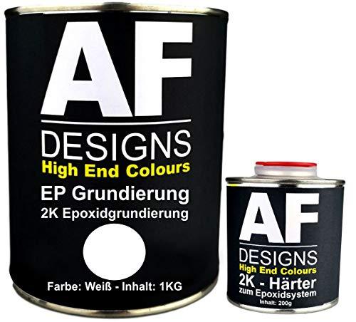 Alex Flittner Designs Epoxidfüller 1,20kg 2K Grundierung Füller EP Füller in weiß für Autolack Rostschutz