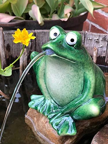 Posiwio Wasserspeier Frosch dunkelgrün, Keramik