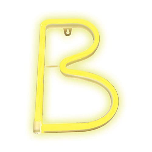 83d18e673b Pooqla Neon Letter Sign Night Lights LED Alphabet Neon Art Lights Wall  Decor Light up Words