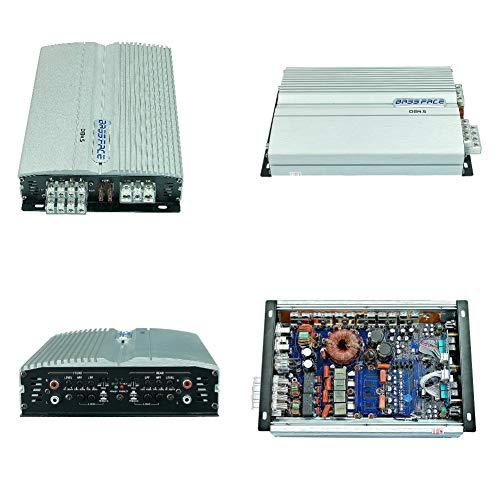 BASS FACE DB4.5 4-kanaals versterker klasse d volledig bereik 920 watt rms tot 2 ohm 4x150 watt rms tot 4 ohm 1840 watt max in brugdeur deuren, 1 stuk