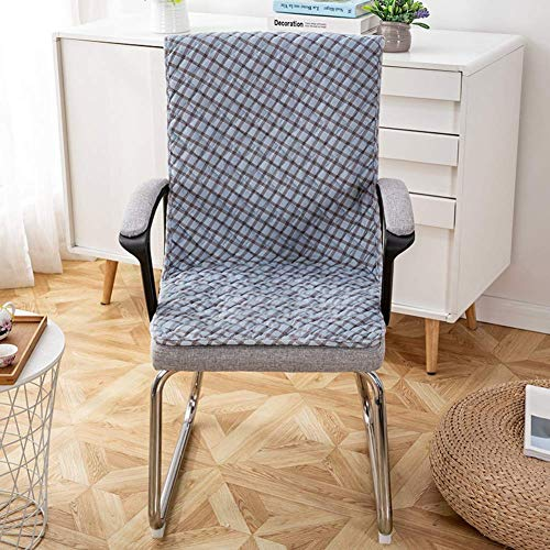 qazwsx Juego de Fundas Antideslizantes para sillas de Comedor, Terciopelo Cojín de Asiento Largo Cojines de Mecedora Siameses Integrados Cojín de Banco para Interiores y Exteriores Azul A 50x135cm