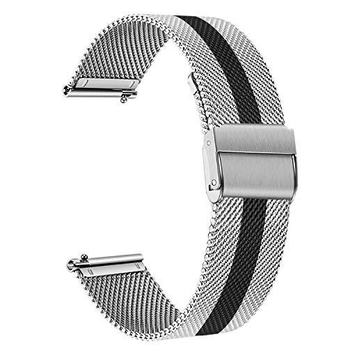 TRUMiRR Sostituzione per Samsung Galaxy Watch 46mm/Gear S3 Frontier/Classic Cinturino, 22mm Cinturino in Acciaio Inossidabile Bracciale con Cinturino a sgancio rapido per Huawei Watch GT/GT 2 46mm