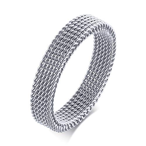 Anillo de anillo para hombre estilo punk gótico, anillo de compromiso y compromiso, anillo vintage de acero inoxidable para hombre