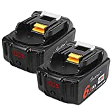 2個 マキタ BL1860 18V バッテリー 6.0Ah 大容量 マキタ BL1860b BL1830b BL1850b 対応%LED残量表示 リチウム イオン 電池 DC18RC DC18RD 適用