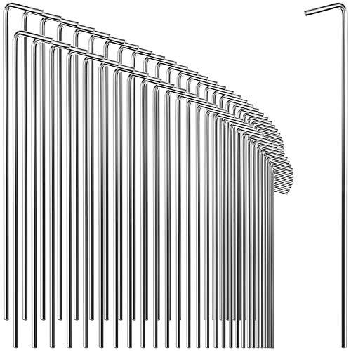 com-four® 72x Zelt-Heringe aus Stahl - extra Dicke Erdnägel für Camping und Outdoor - ideal für normalen und harten Boden - Ø 5 mm