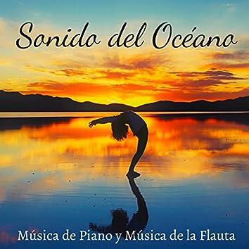 Sonido del Océano, Agua, Lluvia con Música de Piano y Música de la Flauta