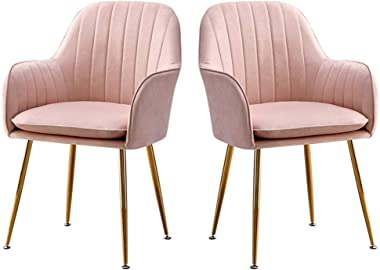 Chair Set of 2 Living Room Dining Chairs Upholstered Chair Armchair with Armrests Backrest Kitchen Furniture Meubles Makeup S
