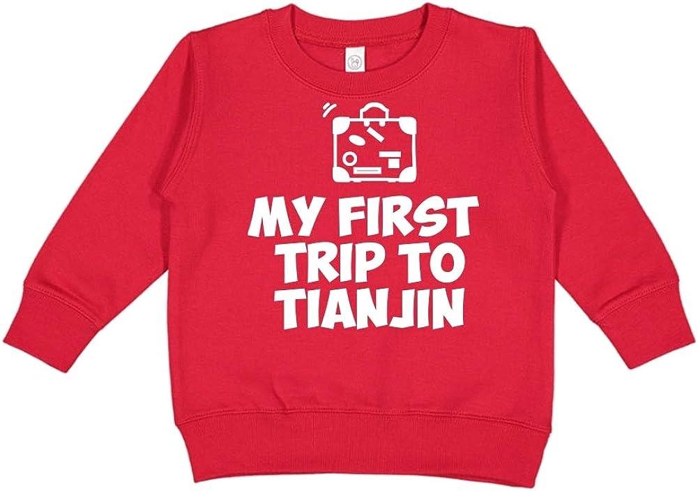 Toddler//Kids Sweatshirt Mashed Clothing My First Trip to Tianjin
