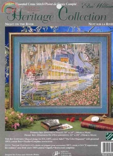 NIGHT ON THE RIVER--ELSA WILLIAMS--Counted Cross Stitch Kit