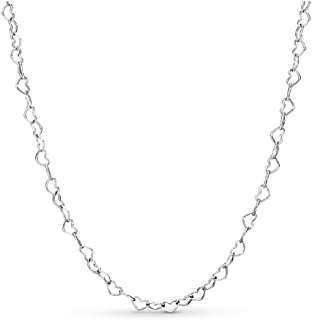 Pandora Jewelry - Joined Hearts Necklace for Women in Sterling Silver, Size 23.6 IN / 60 CM