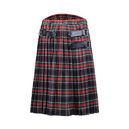 Scottish Plissee Plaid Kilt Herren traditioneller Kampf Punk Goth Highland Rock