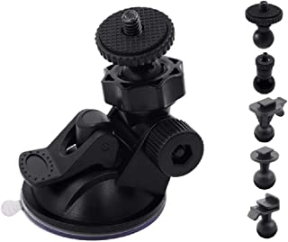 【iSportgo正規品 S30】 ドライブレコーダー 吸盤 マウント 360度回転 吸盤式 ホルダー ブラケット、5つ異なるアダプタ付け、Anero、コムテック(COMTEC)、Chortau、KENWOOD(ケンウッド)、TOGUARD、T...