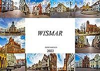 Wismar Impressionen (Tischkalender 2022 DIN A5 quer): Die Hansestadt Wismar in zwoelf einmaligen Bildern (Monatskalender, 14 Seiten )