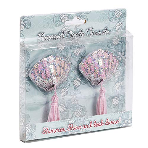 Diabolical Gifts DP0618 Mermaid Sea Shell Nipple Tassels by Diabolical, Pink